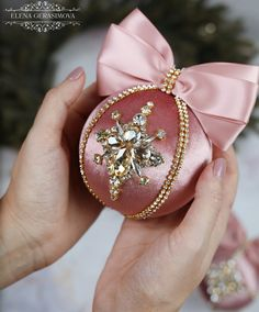 Christmas velvet rhinestones ornaments, Handmade balls in gift box, Xmas decorations, Tree decor, blush baubles Rose Gold Christmas Decorations, Disney Christmas Ornaments, Christmas Sewing, Xmas Decorations, Elegant Christmas, Pink Christmas, Handmade Christmas, Christmas Fireplace, Christmas Aesthetic