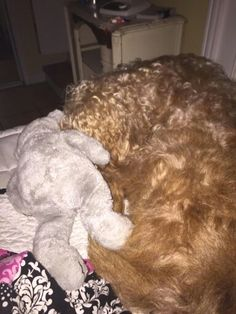 Going to bed with her baby.