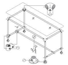 Maak zelf een tafel onderstel voor tuintafels eettafels en salontafels. Combineer de steigerbuis met steigerhout, gratis bouwtekeningen voor buismeubelen.