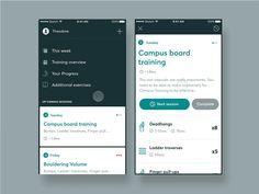 Concept - Climbing Training App - Starting a training session by ⍨ Samuel Medvedowsky
