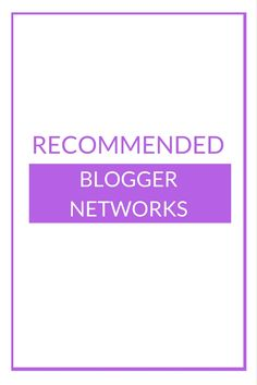 List of Recommended Blogger Networks http://www.kairenvarker.co.uk/list-recommended-blogger-networks/