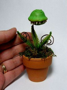 OOAK ManEating Monster Plant Morty by Amber by Trollflings on Etsy, $75.00