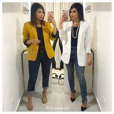 """Consumo+Consciência=Estilo no Instagram: """"Desafio Blusa Básica @amobasico Pelo milagre do look fora do espelho resolvi registrar com destaque no feed a primeira escolha do desafio…"""" Oufits Casual, Casual Jeans, Casual Chic, Outfit Jeans, My Outfit, Modest Fashion, Fashion Outfits, Womens Fashion, Trendy Outfits"""