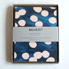 balue/co. | navy + peach dots cards (via @Susy Koujak Koujak Koujak Jack*)