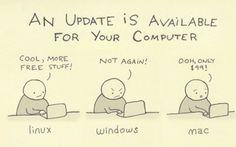 Linux vs. Windows vs. Mac