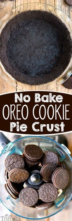 Step by step instructions for the PERFECT No Bake Oreo Cookie Pie Crust! | eBay