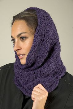 Free Pattern: F528 Baby Alpaca Aire Wave Lace Snood/Cowl by Plymouth Yarn Design Studio