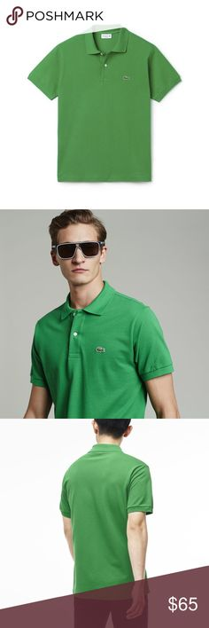 NWT LACOST MEN'S CLASSIC LACOST POLO SHIRT ✳️ MEN'S CLASSIC LACOST POLO SHIRT  René Lacoste's iconic creation: our timeless petit piqué knit polo is soft, durable, and endlessly stylish. A must have!  🔹100% Cotton 🔹Classic fit 🔹Ribbed collar and armbands 🔹2 button placket 🔹Mother-of-pearls buttons Lacoste Shirts Polos