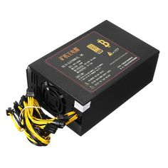 1600W Ethereum Mining Rig Mining Power Supply For Bitcoin Miners Antminer S7 S9 A6 A7