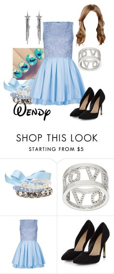 """Disney - Wendy"" by briony-jae ❤ liked on Polyvore featuring Diamonique, Topshop and Ben-Amun"