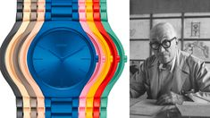Nine architectural colours from the Architectural Polychromy theory of Le Corbusier find a vivid expression in this latest collection of RADO watches.