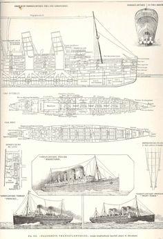 RMS MAURETANIA - deck plans (cont.). Titanic Model, Rms Titanic, Rms Mauretania, Hms Hood, Naval, Deck Plans, Battleship, Architecture Details, Illustrations