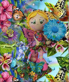 FAIRY MARIPOSA fofucha doll by SweetBellaLuna on Etsy, $24.00