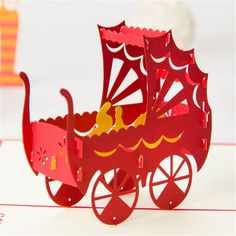Cheap card making supplies usa, Buy Quality carriage stroller directly from China carriage pram Suppliers:    3D Pop up kirigami Postcards Paper Laser Cut Vintage Greeting kraft Happy Birthday Cards with envelope Rilakkuma Pian
