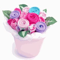 Blooming Blossom Bouquet For Girls Baby Shower Decor $54.95