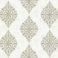 Mikado Wallpaper in Silver by Ronald Redding for York Wallcoverings (110 TND) ❤ liked on Polyvore