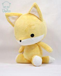 Cute Bellzi Yellow w/ White Contrast Fox Stuffed by BellziPlushie, $40.00