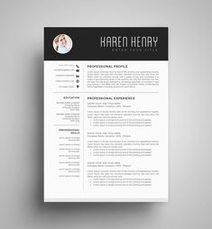 Professional Resume Template Cv Template Simple And Elegant