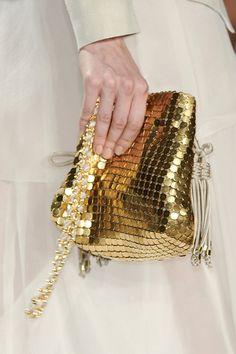 #ElieTahari  #purse  shall i shine  #gold