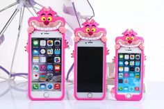 Cute Cartoon 3D Alice's Adventure in Wonderland Cheshire Cat Soft Silicon Case Cover For IPhone 6 Plus 5.5inch-in Phone Bags &…