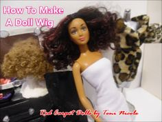 How To Make A Doll Wig - YouTube