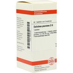 DOLICHOS PRURIENS D 6 Tabletten:   Packungsinhalt: 80 St Tabletten PZN: 02629794 Hersteller: DHU-Arzneimittel GmbH & Co. KG Preis: 5,95…