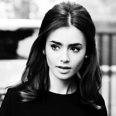 Lily Collins. Old school beauty.