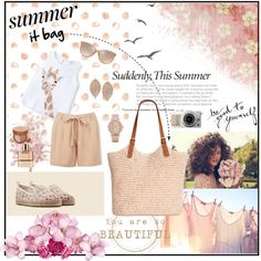 Summer ''It Bag'' by aurora-australis on Polyvore featuring moda, MANGO, Oasis, Fendi, Straw Studios, Humble Chic, ALDO, Burberry, Laura Geller and Chloé
