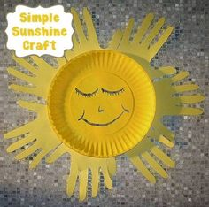 16 Sun Crafts for Kids Sun Crafts, Easy Arts And Crafts, Summer Crafts, Craft Stick Crafts, Craft Ideas, Toddler Art, Toddler Crafts, Crafts For Kids, Family Crafts