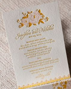 """See the """"Romantic Menu Card"""" in our Menu Cards by Style gallery"""