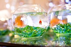 That would be kind of adorable. Just have to make sure my guests take the centerpieces :)