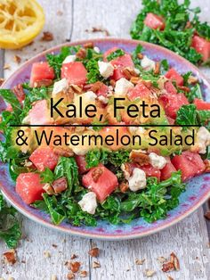 We are firm believers that salads never have to be boring. If you think they are, then you aren't making them right. This Kale, Feta and Watermelon Salad is refreshing, super simple and packed full of all the good stuff. With its sweet and salty combination, it's the perfect side dish for your next BBQ. via @hhhdannii