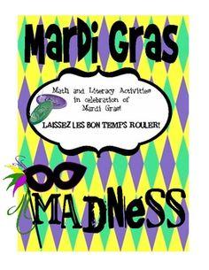 Mardi Gras Themed Center Activities :)