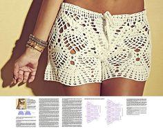 Crochet shorts PATTERN sexy crochet beach shorts pattern