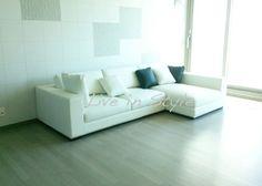 Max 9009 - L-Shape White Leather Sofa