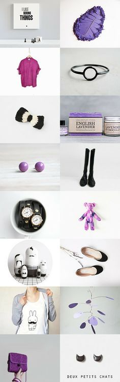 Purples by Ana Bellino on Fashion Accessories, Minimalist, Trends, Purple, Modern, Gifts, Etsy, Presents, Purple Stuff