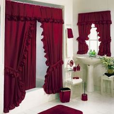 Tiara Deluxe Double Swag Shower Curtain $30.00