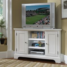 "Home Styles Bedford 50"" Corner TV Stand & Reviews 