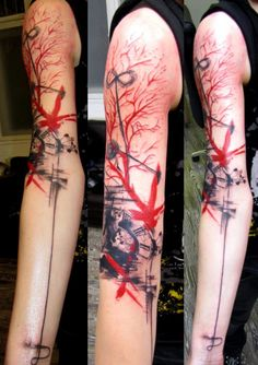 Colorful abstact tattoos | ... tattoos 2011 2014 truemmertattoo abstract trash tattoo i have