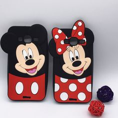 New 3D Cute Cartoon Smiling Minnie Mickey Case Soft Silicone Cover For Samsung Galaxy J3 2016 J320 J320F Rubber Shell