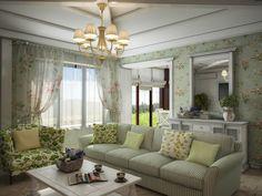 Große Fenster umwandeln Tageslicht im Überfluss in diesem leicht farbigen Raum. Die extra großen Sofa und floral print Sessel verankern zeitgenössische Zimmer im traditionellen Stil.