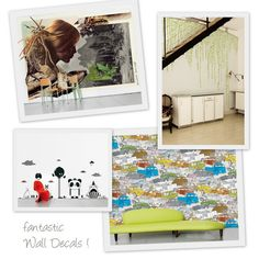 ~Wall Decal Love~ We have always loved Wall Decals, Wall Tatoos, whatever you want to call them!  Here's another company that has some great ideas and designs!  It's called Areaware.  Check out these fab Decals!
