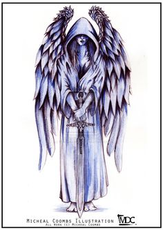 Guardian Angel - Tattoo commission by MikeCoombsArt.deviantart.com on @deviantART