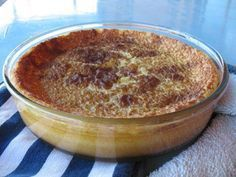 South African Crustless Milk Tart A couple of days ago, on a winter afternoon, with an over-supply of milk from the weekend about to hit it...