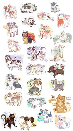 God this took forever possible crowded as hell but I wanted to make sure to put all info I thought was needed just in case I want to commission some people 3 took it out. Cute Kawaii Animals, Cute Animal Drawings Kawaii, Cute Baby Animals, Cute Drawings, Cute Dog Drawing, Furry Drawing, Cute Fantasy Creatures, Mythical Creatures Art, Anime Animals