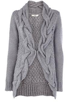 grey knit jacket.  i like it.