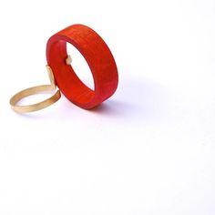 diederick van hovell, ring, wood, gold.