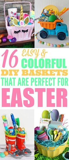 Unique easter basket for your 9 12 year old girls easter baskets 16 diy easter basket ideas that will have you hoppin negle Image collections