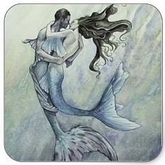 Romantic Mermaid Kiss Stickers