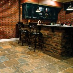 In 2011 Homearama. This photo features Carlisle Black in 12 x 18 brick pattern on the floor.
